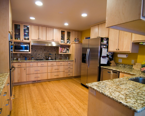 Natural Maple Kitchen Country Cabinets